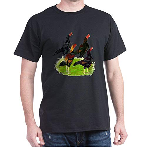 CafePress Oriental Gamefowl Dark T Shirt 100% Cotton T-Shirt Black
