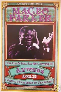Maceo Parker James Brown Rare Funk Soul Rare Antones Austin Texas Concert Poster from ConcertPosterArt
