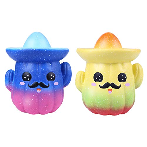 Darpane Squishies Super Cute Cartoon Cactus Slow Rising Fruits Scented Stress Relief Toys Gift-Party Favors for -