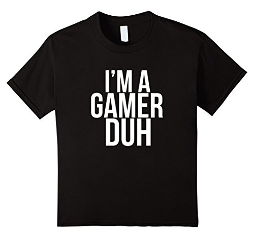 Kids I'm A Gamer Duh TShirt Funny Halloween Video Game Costume 10 Black - Video Game Costumes Halloween