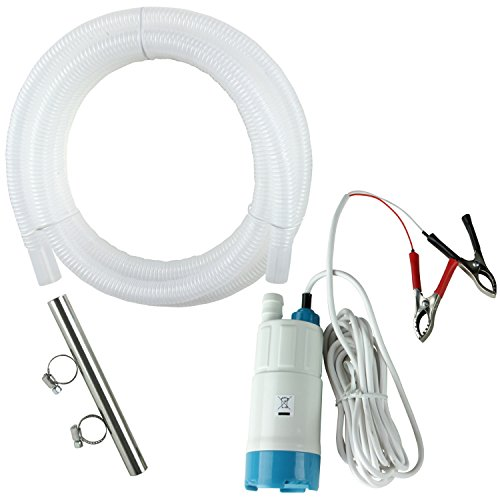 TERAPUMP Portable Submersible Water Filter Pump 12V DC Car Battery with 10 feet hose - Easy Fast and Quiet