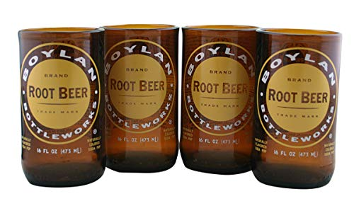 (Tumblers Drinking Glasses Made From Recycled Soda Bottles 12 Oz - set of 4 (Amber))