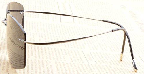 Eyekepper Lunettes de Soleil Polarisees en Titane UV 400 Protection Haut de Gamme Bronze/Gris