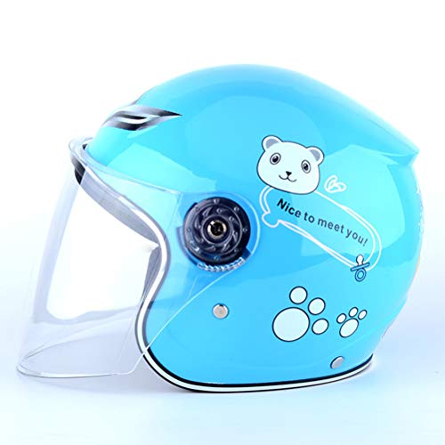 (SIUONI Lovely Kids Bicycle Helmets PP+EPS Integrally-Molded Safety Headwear Shockproof Breathable Children Cycling Helmet Full Face Riding Helmet Kids Motorcycle Bicycle Muffler Cartoon)