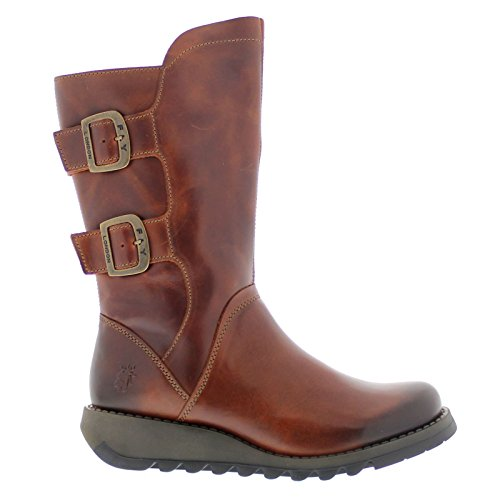 Fly London Womens Sack 785 Fly Rug Leather Boots Brick