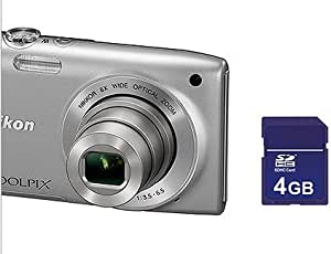 Nikon Silver S3200 16 Megapixel Digital Camera w/6x Optical Zoom Value Bundle with 4GB Memory Card