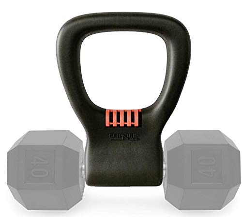 Grip N Rip Fitness Adjustable Dumbbell Grip Converts Dumbbells with Handles Between 1-1.4″ into Kettlebells – Exercise Equipment for Home Workouts, the Gym, or On the Go – for Weights Up to 75 lbs