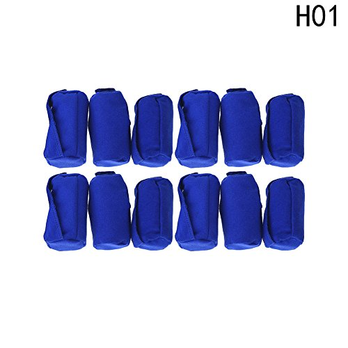 Canghai Heat-Free Hair Curlers Sleep Hari Rollers Without Damaging Your Hair Curling Hairstyle Tools Both Long and Short Available Blue (12 - Men With Face Hairstyle Big For