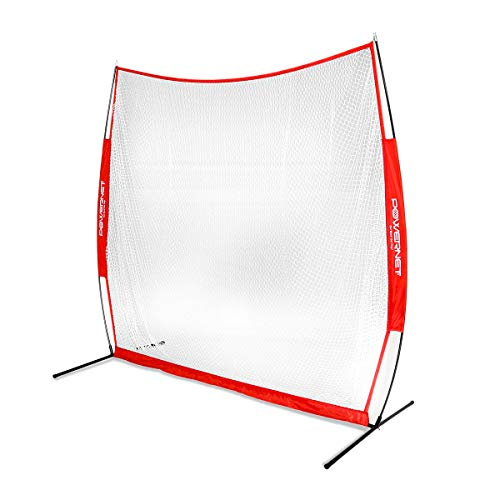 PowerNet Golf Net Use Real or Practice Balls New and Improved Design for 2019 for Working on Drives, Chips with Woods or Irons Large Hitting Surface Indoor or Outdoor Use 7 x 7