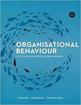 organisational behaviour mcshane olekalns travaglione 4th edition