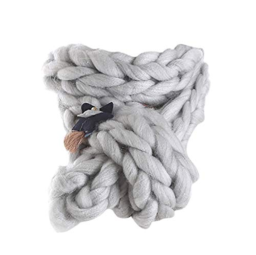 Chunky Knit Scarfs for Women Thick Cable Shawls Wrap Winter Soft Warm Long Large Solid Color Stole Worsted HunYUN