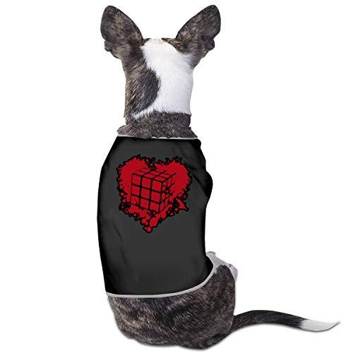 (LNUO-2 Pet Shirt Clothes, Love Rubiks Cube Dog Cat Vest)