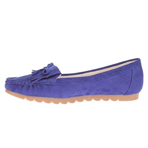 CATISA-bal4_rs101-Bailarinas para mujer Azul - azul