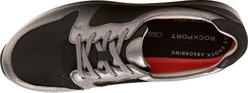 Sneakers Rocker Per Donna Tricolore Derby Fashion In Pelle Multi Nera