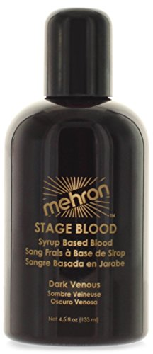 Mehron Stage Blood- Dark Venous- 4.5oz - Great fake blood for Halloween and Special effects (Halloween Fake Blood)