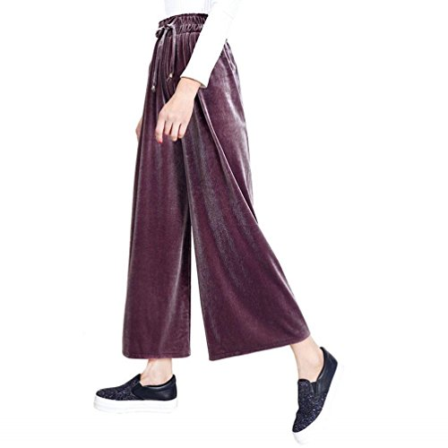 Uni Élastique Pantalons Élégant Manche Ceinture Long Loisirs Rose Roche Large De Battercake Cordon Velours Automne Femme Dame Jupe Pantalon Casual Bouffant Serrage Fashion qIw8ICx6T