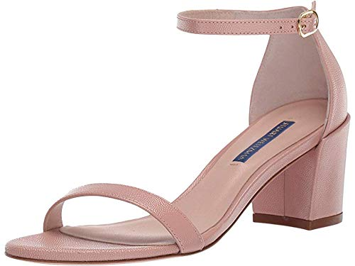 Stuart Weitzman Women's Simple Buff Blush Caviar Patent 4 M US
