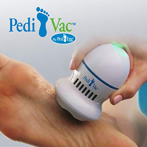 Pedi Vac by PedEgg Foot File and Callus Remover with Built-In Vacuum: Rechargeable Motorized Electric Callus Remover for Feet and Hands (Pedi Vac)