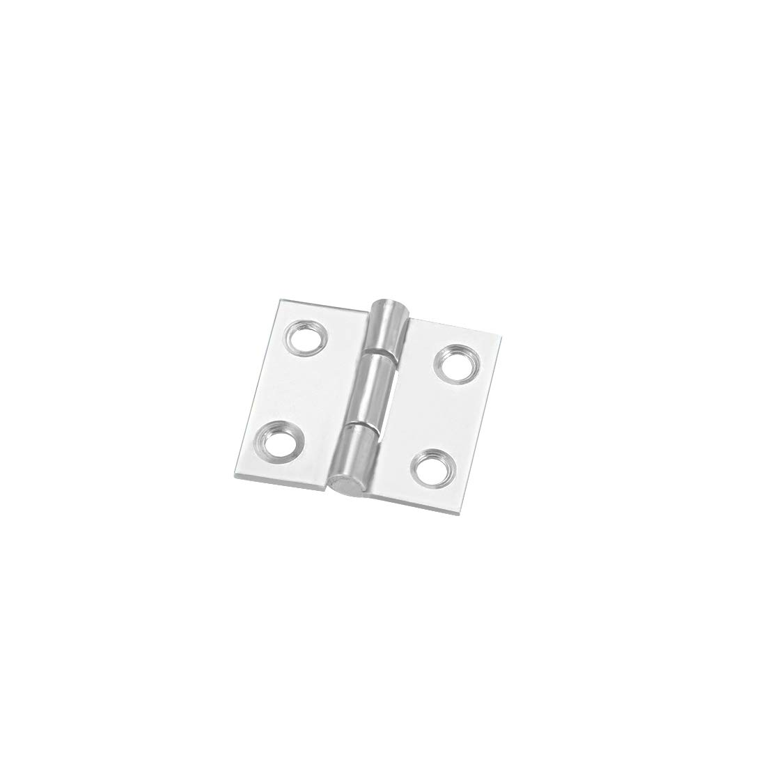 uxcell 1.06 Hinge Silver Door Cabinet Hinges Fittings Brushed Chrome Plain 12pcs