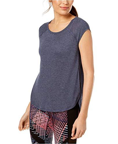 Calvin Klein Performance Womens Cap Sleeves Open Side T-Shirt Navy M ()