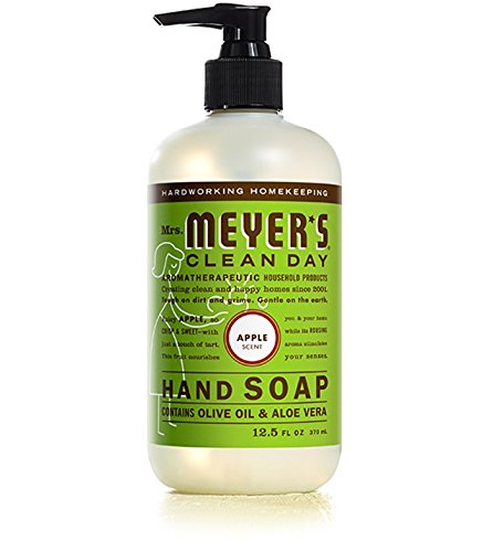 Mrs. Meyer's Clean Day Liquid Hand Soap, Apple, 12.5 fl oz (Box Peony Blend)