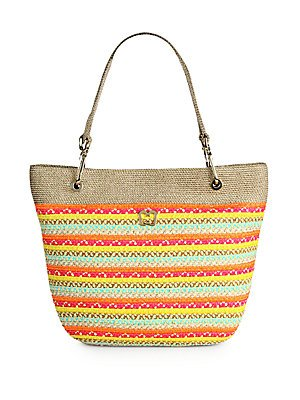 Eric Javits Luxury Fashion Designer Women's Handbag - Squishee Clip II - Tropic (Squishee Clip)