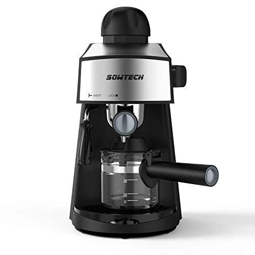 Steam Espresso Machine 800W 4 Cup Stainless Ste...