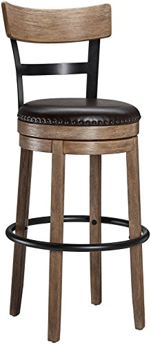 (Ball & Cast Swivel Bar Stool - Pub Height - Light Brown )