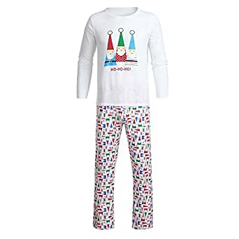 8720c244cd Image Unavailable. Image not available for. Color  Clearance Sale Christmas  Pajamas Matching Family FEDULK HOHOHO Sleepwear Nightwear Pjs Sets(White2  ...