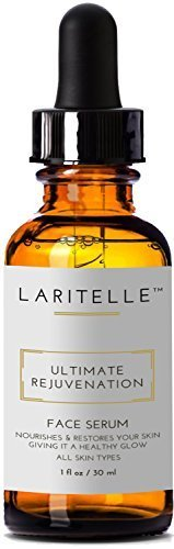 Laritelle Organic Face Serum, Rejuvenating, Nourishing, Vitamins and Antioxidants-rich Treatment for Face, Neck and Decollete, Luxurious, Silky, Smoothing, Balancing Serum for All Skin Types, 2 oz by Laritelle ()