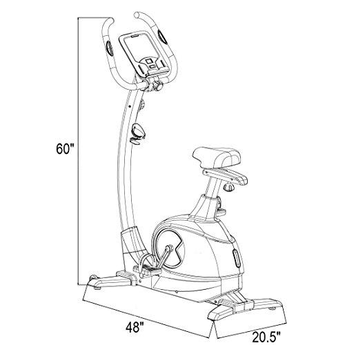 Fitleader UF2 Exercise Magnetic Stationary Flywheel Middle Belt Indoor Upright Bike