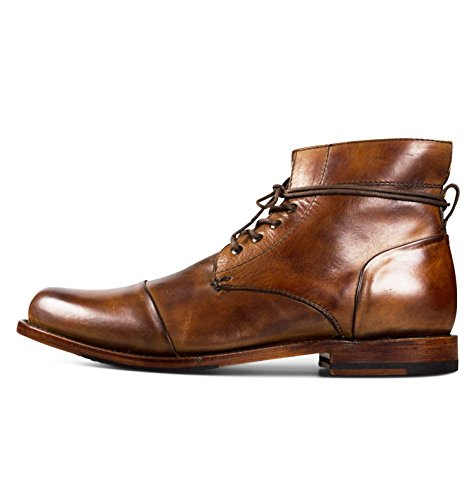 Sutro Footwear Men's Leather Chukka Lace Up Boots Handcrafted, Hand Stitched With Goodyear Welted Sole - Alder Honey - Alder Footwear