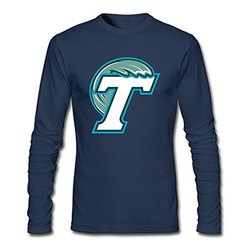 Men's Fashion Tulane University Long Sleeve Tshit Navy US Size XXL