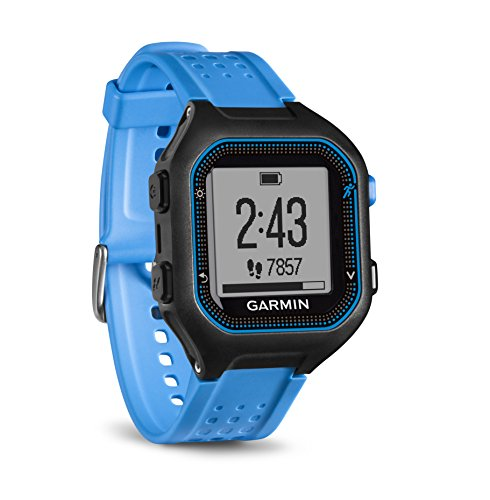 Garmin Forerunner 25 Bundle with Heart Rate Monitor Large – Black and Blue