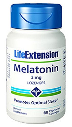Life Extension Melatonin 3mg Dissolving Lozenges, 60-Count