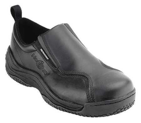 Work Shoes, Men, 13M/W, Slip On, Black, PR
