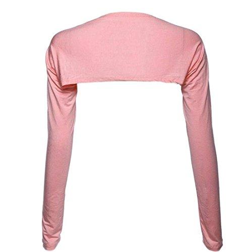 Spalla Camicetta Bolero Spalle Tempo Maniche Damigella Corto Adelina Donna Shirts Alzata Colore Giacca Lunghe Di Fashion Puro Khaki Libero Tops Eleganti g7wTdz