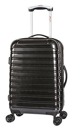 iFLY Hard Sided Carry On Luggage Fibertech 20 , Black