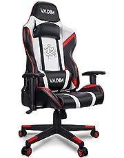 VADIM Gaming Stoel Bureaustoel Swivel Heavy Duty Stoel Ergonomisch Ontwerp met Kussen en Liggende Rugondersteuning