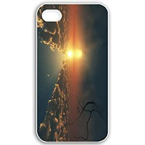 Diy Yourself Apple iPhone 6 4.7 case covers Customized Gifts Of Beach beaches sunset over the ocean wvPtyjCp4Ua 16039 White