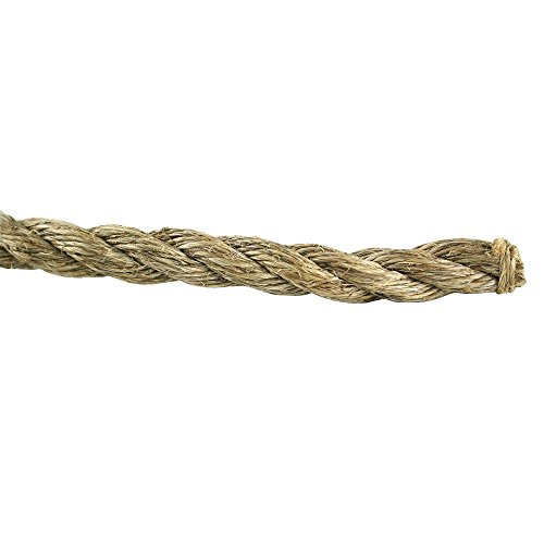 Foot Manila Rope - Everbilt 1 in. x 75 ft. Natural Twisted Manila Rope