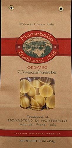 Montebello Organic Orecchiette Pasta, 1 Pound -- 12 per case. -  0001553210109