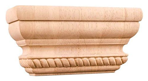 Rope Pilaster Capital  Rubberwood  By Hardware Resources