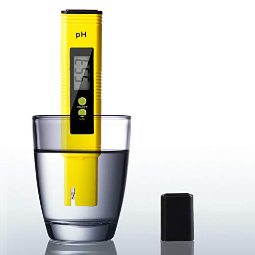 BFVV Digital PH Meter PH Tester Pen with 0-14 PH Measurement Range for Drinking Water Swimming Pools Spas Aquarium Hydroponics