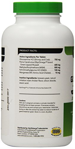 VETRISCIENCE Laboratories - GlycoFlex 2, Hip and Joint Supplement for Dogs, 120 Chewable Tablets