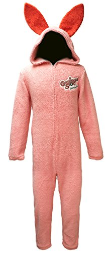 A Christmas Story Mens Pink Bunny Union Suit Pajama (Large) ]()