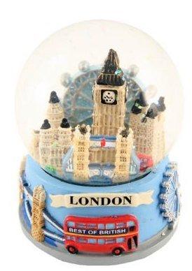 London Collage Souvenir Snowglobe Snowstorm (65mm)