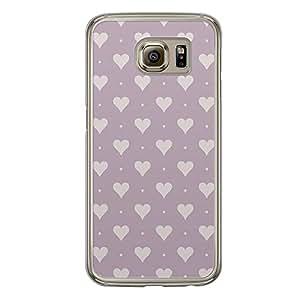 Loud Universe Samsung Galaxy S6 Love Valentine Printing Files A Valentine 111 Printed Transparent Edge Case - Purple