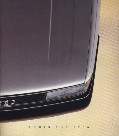 1986 Audi Line Sales Brochure Book 5000 4000 Coupe ()