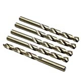 X AUTOHAUX 5pcs 9mm High Speed Steel Straight Shank Spiral Twist Drill Bits for Auto Car